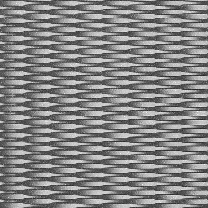 FlexLam 3D Wall Panel | 4ft W x 10ft H | Interlink Pattern | Argent Silver Finish