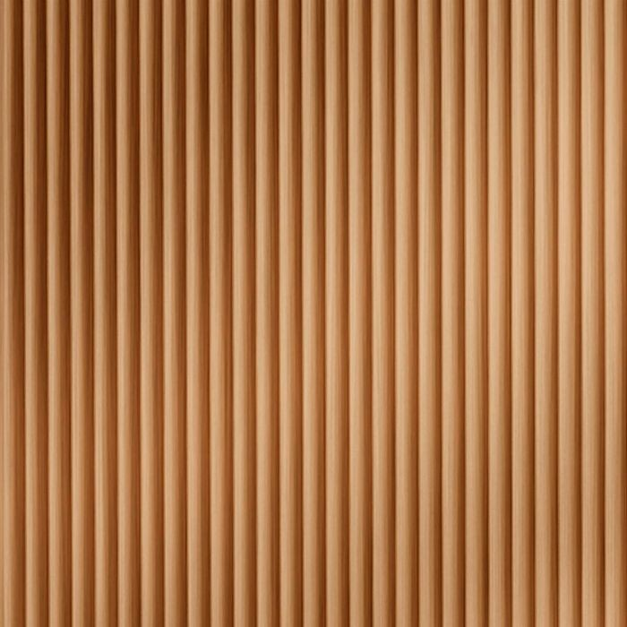 10' Wide x 4' Long Rib2 Pattern Brushed Copper Finish Thermoplastic Flexlam Wall Panel
