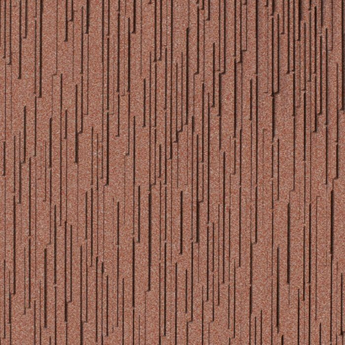 10' Wide x 4' Long Glacier Pattern Argent Copper Finish Thermoplastic FlexLam Wall Panel