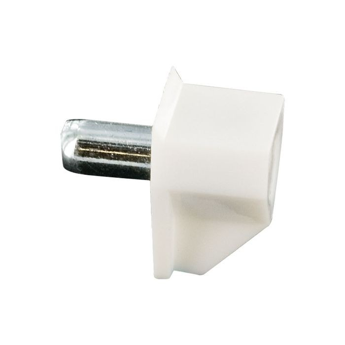 "White Shelf Rest With 5MM Steel Pin 1/8"" Wide x 3/8"" Long"