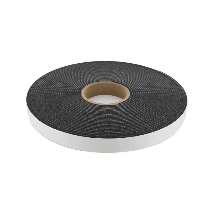 "1"" Wide x 1/16"" Thick Embossed Black Thermoplastic Rubber Non-Skid Pad 50' Roll"