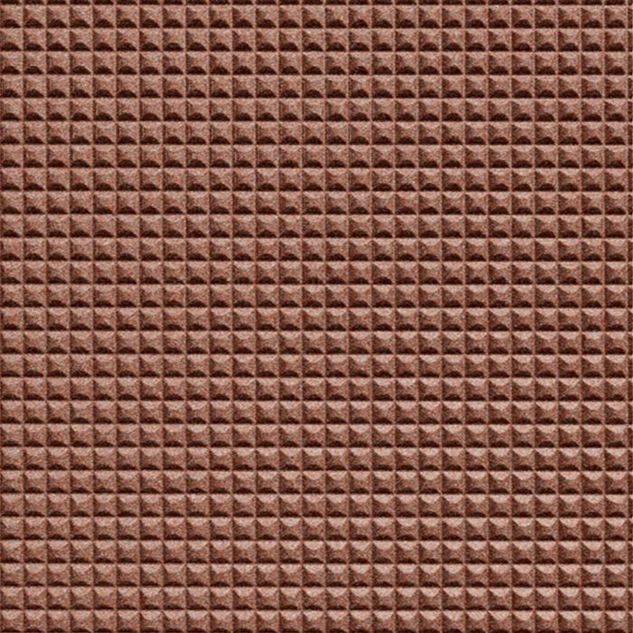 10' Wide x 4' Long Chocolate Square Pattern Argent Copper Finish Thermoplastic Flexlam Wall Panel