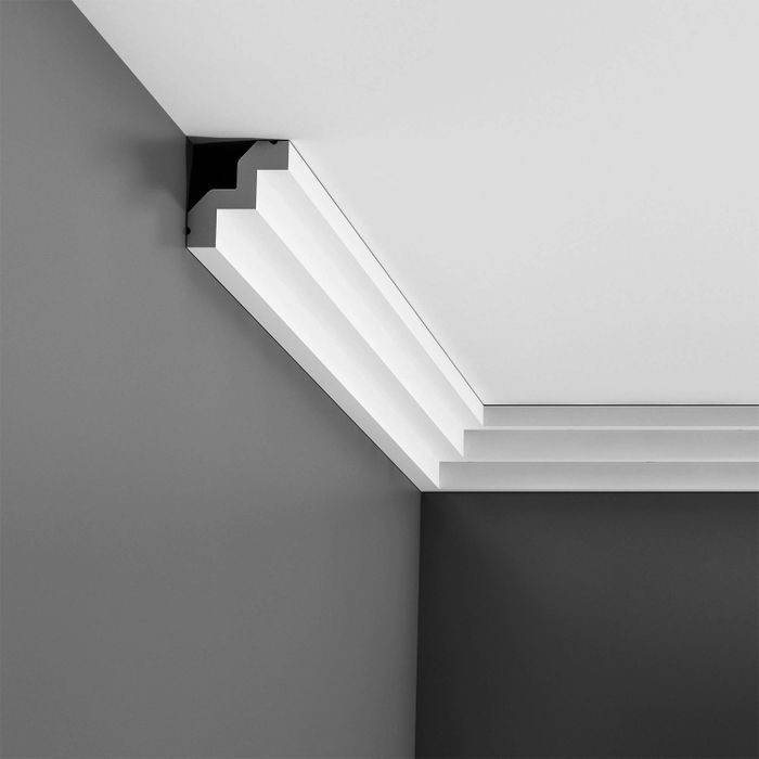 Orac Decor | High Density Polyurethane Crown Moulding | Primed White | Face 2-7/8in x 78in Long