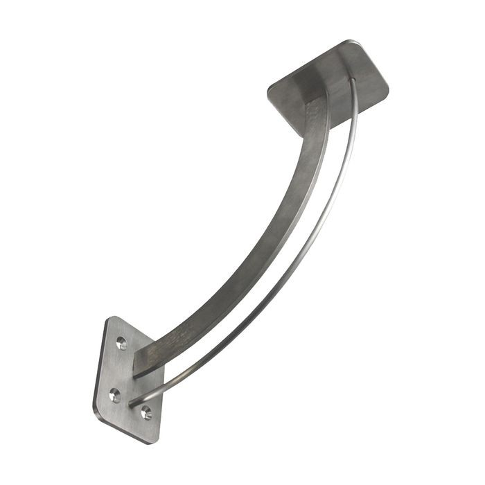 11in x 11in | Stainless Steel Finish | Vertical Face or Wall Mount | 304 Grade Stainless Steel | Elevated Steel Countertop Support Bracket