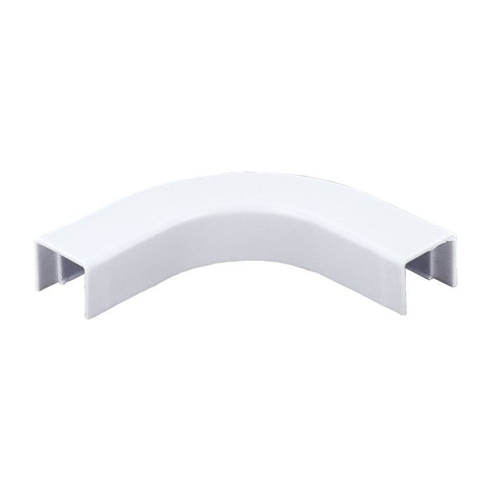 "1/2"" Long White Plastic Right Angle"