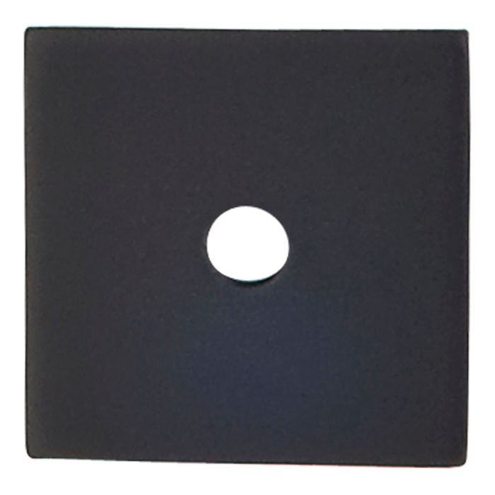 "Square Backplate 1"" Diameter Flat Black"