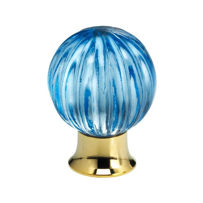 "1 3/16"" Dia Blue Glass Knob"