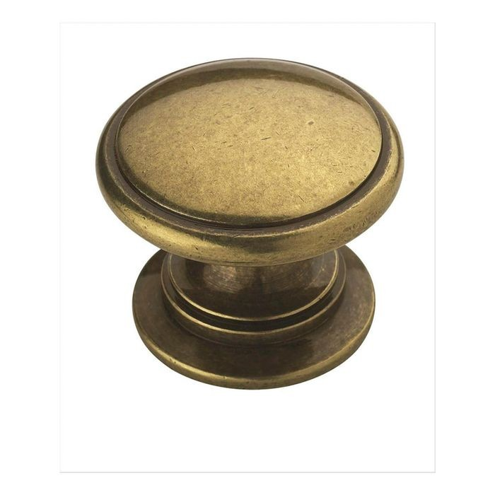"1 1/4"" Diameter Knob Burnished Brass"