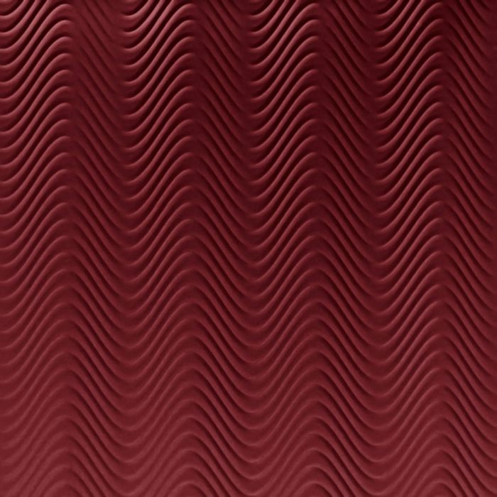 10' Wide x 4' Long Curves Pattern Merlot Finish Thermoplastic Flexlam Wall Panel