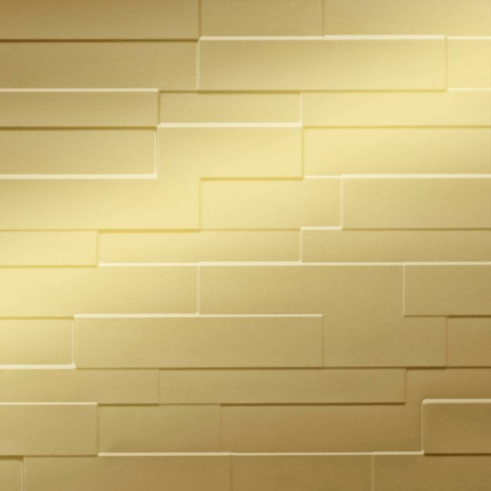 10' Wide x 4' Long Tetrus Pattern Mirror Gold Finish Thermoplastic Flexlam Wall Panel
