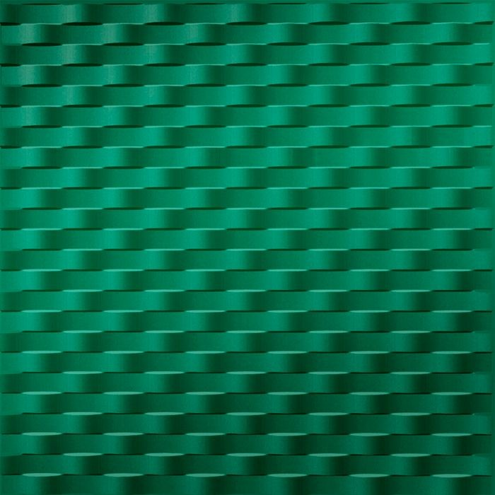 10' Wide x 4' Long Weave Pattern Mirror Green Finish Thermoplastic Flexlam Wall Panel