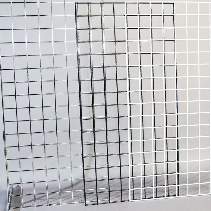 "White 2'x8' Wire Grid Panel W/3"" Oc Squares"