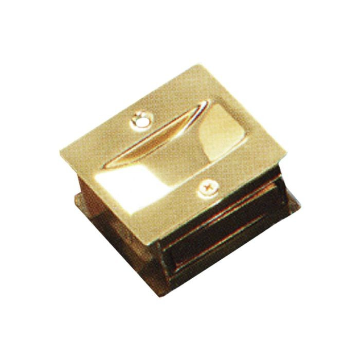 "1-3/8"" x 1-3/4"" Solid Brass Pocket Door Passage Pull"