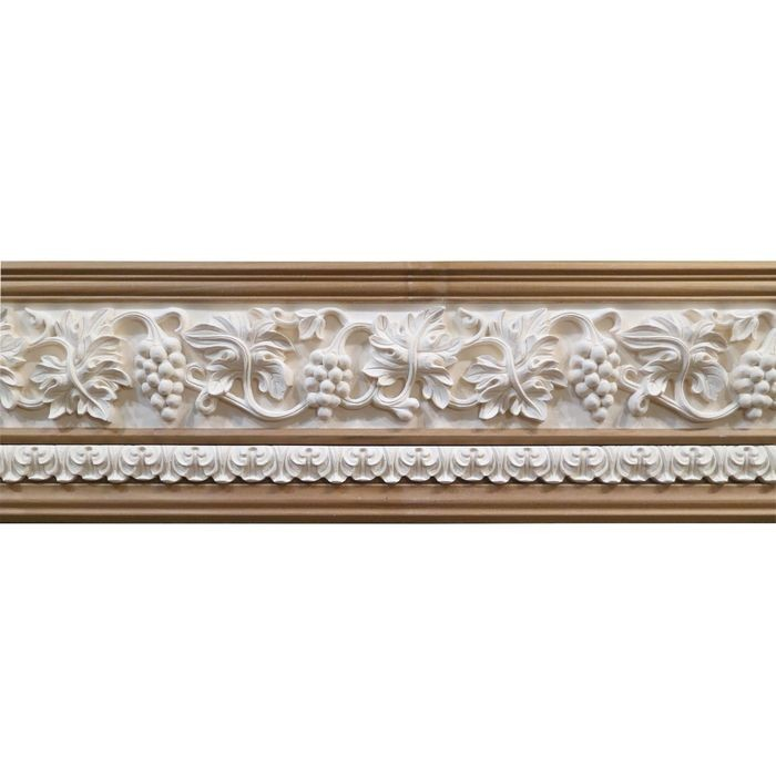 10in H x 1-1/2in Proj | Unfinished Polymer Resin | 480-E Series with Bottom Style 5 | Frieze Moulding | 10ft Long