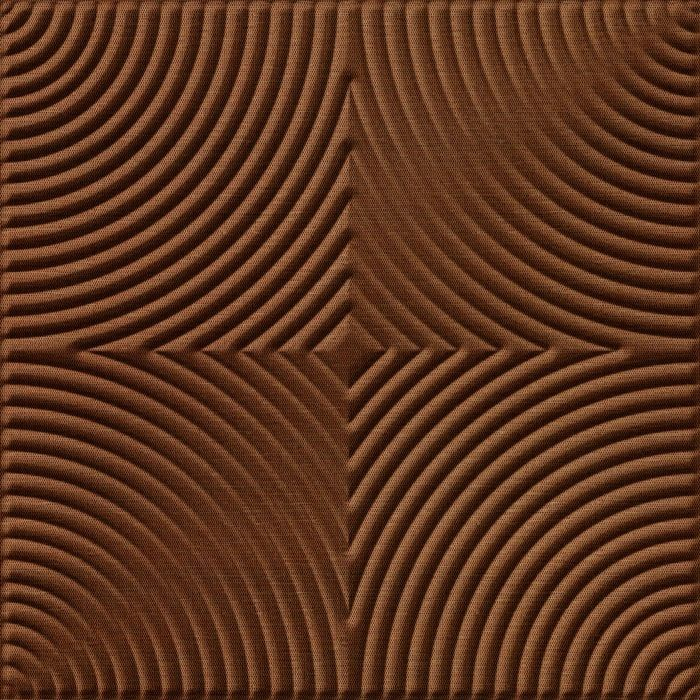 FlexLam 3D Wall Panel | 4ft W x 10ft H | Curvation Pattern | Linen Chocolate Finish