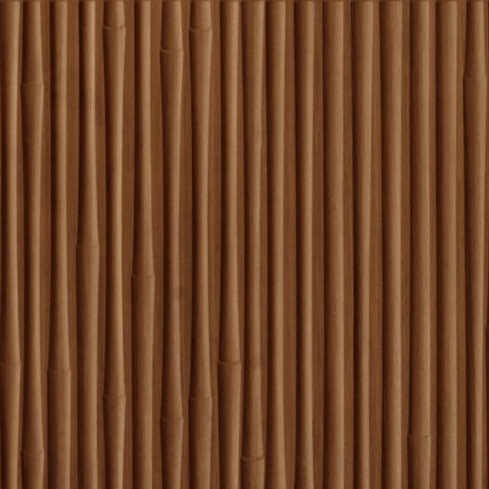 10' Wide x 4' Long Bamboo Pattern Pearwood Finish Thermoplastic Flexlam Wall Panel
