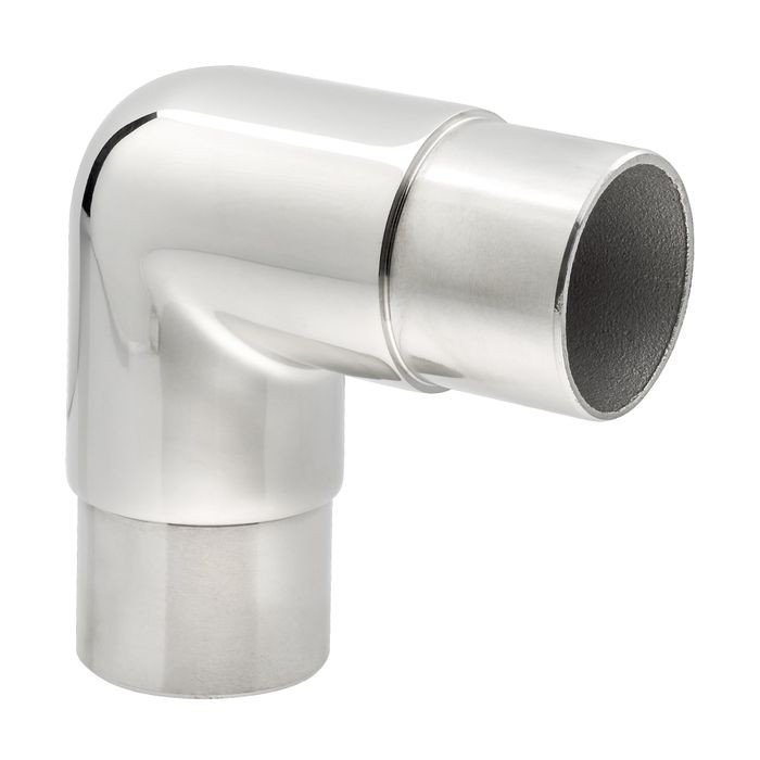 1-1/2in Dia x 2-5/16in H | Polished Stainless Steel Finish | 90 Degree Flush Fitting