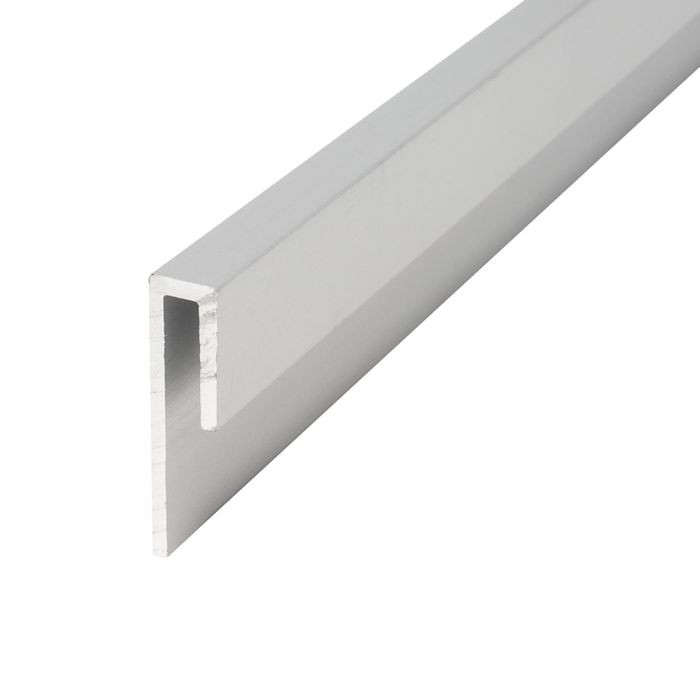 "1/8"" Clear Anodized (Satin) Finish Aluminum Cap Moulding 12' Length"