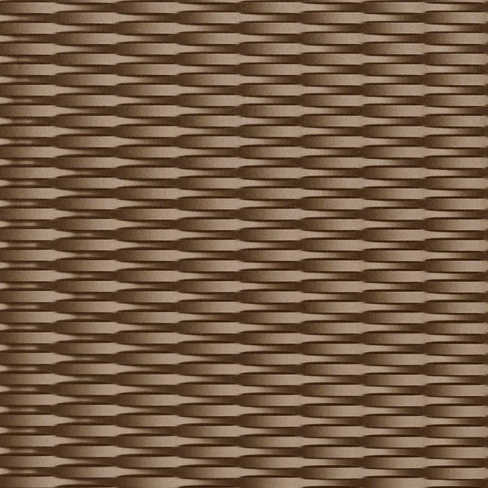 10' Wide x 4' Long Interlink Pattern Argent Bronze Finish Thermoplastic Flexlam Wall Panel