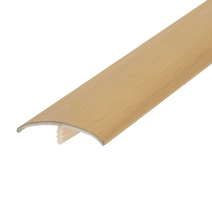 1-1/2in Brushed Brass Flexible PVC | Metallic Tee Moulding | 100ft Coil