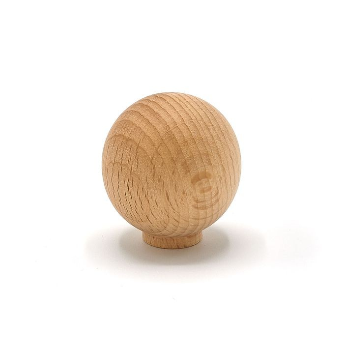 "1 1/4"" Dia. Unfinished Knob Round Beech"