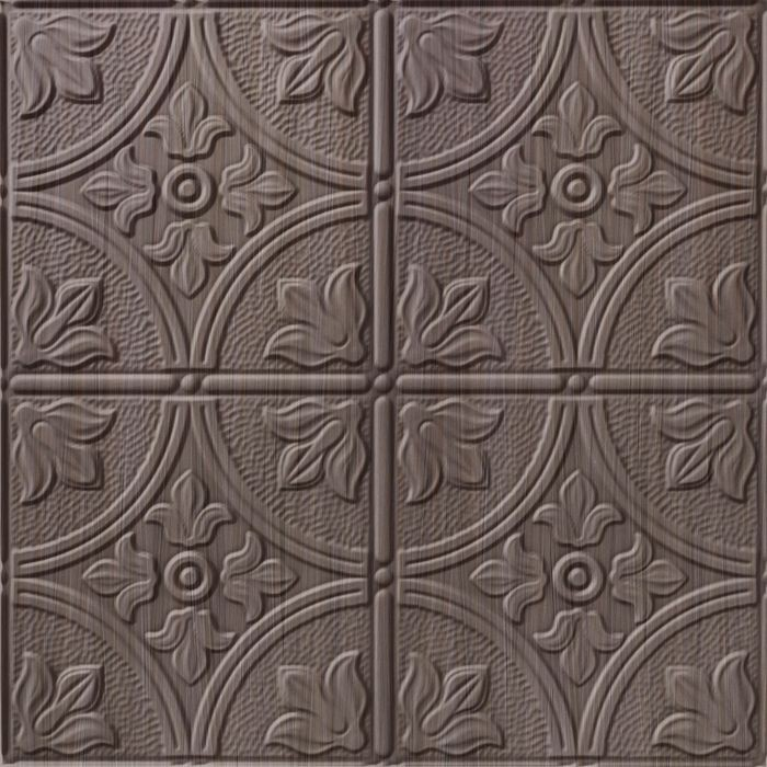 10' Wide x 4' Long Boston Pattern Bronze Strata Finish Thermoplastic Flexlam Wall Panel