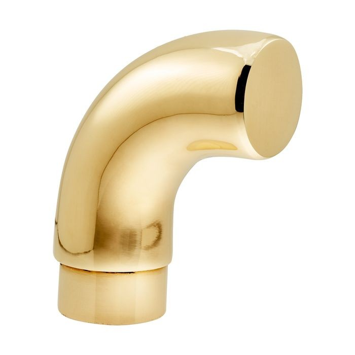 1-1/2in Dia x 3-1/8in H | Polished Brass Finish | Flush Fitting