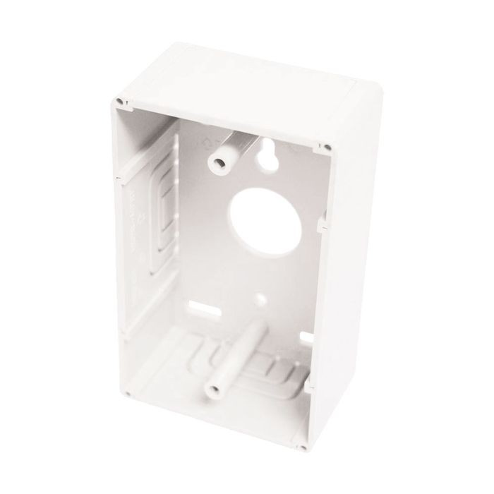 "1.6"" Deep White Polycarbonate Unicom Single Gang Surface Mount"