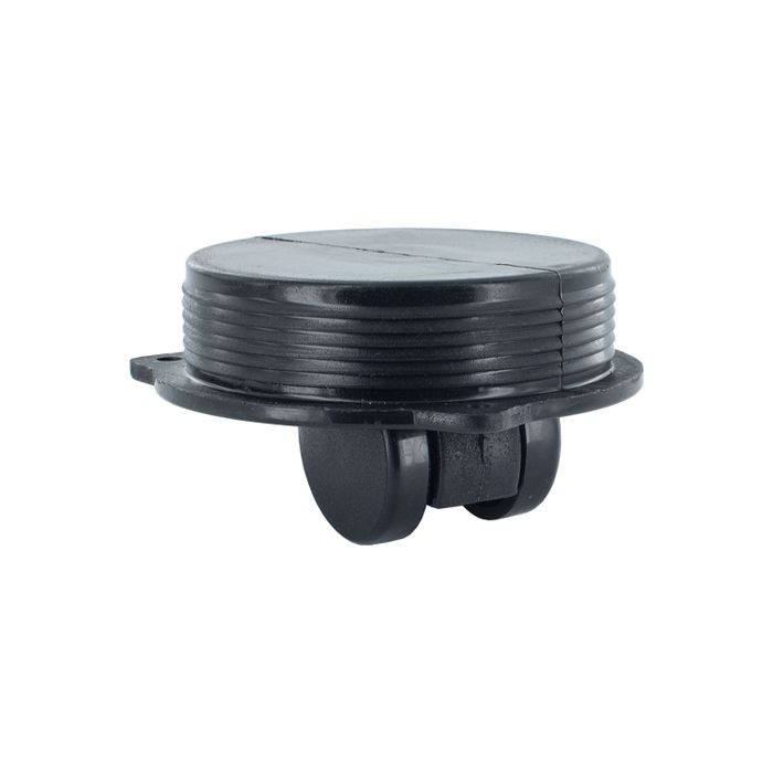 1-3/16in Dia | Black Nylon | Recessed Swivel Caster