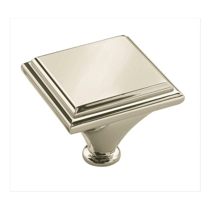 "1 7/16"" Square Knob Polished Nickel"