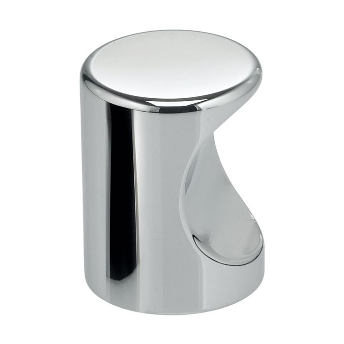 "Solid Brass, Chrome Plated 1""Dia. Knob Brite Finish"