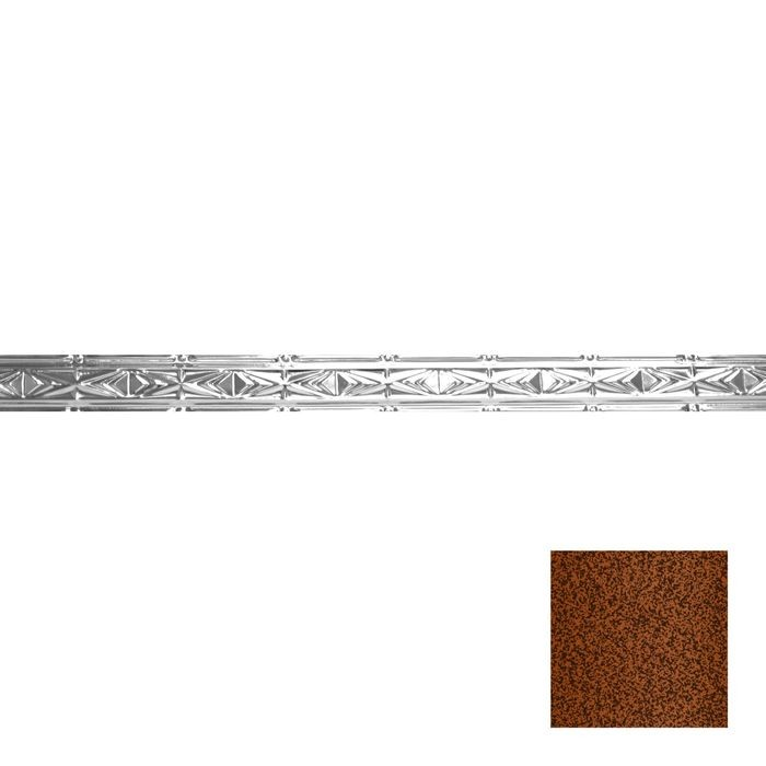 Tin Plated Stamped Steel Cornice | 3-1/2in H x 3in Proj | Copper Vein Finish | 4ft Long