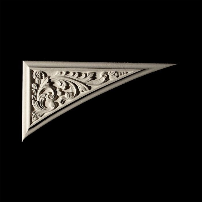 "10"" Wide x 5"" High Unfinished Polymer Resin Corner Element Applique"
