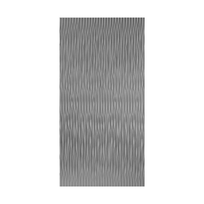 10' Wide x 4' Long Sahara Pattern Crosshatch Silver Vertical Finish Thermoplastic Flexlam Wall Panel