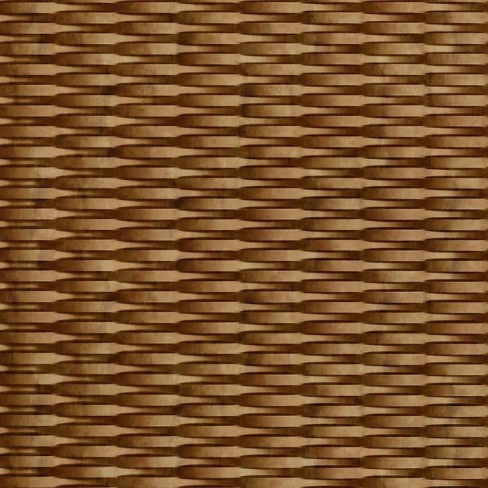 10' Wide x 4' Long Interlink Pattern Muted Gold Finish Thermoplastic FlexLam Wall Panel