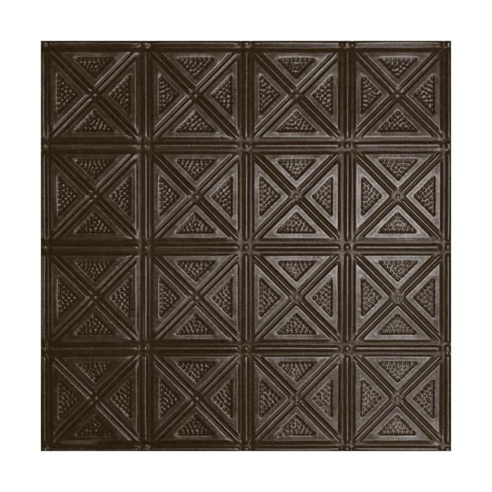 Tin Plated Stamped Steel Ceiling Tile | Lay In | 2ft Sq | Knights Armor Finish