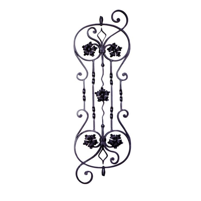 "Wrought Iron Panel 13""W X 36 7/16""H"