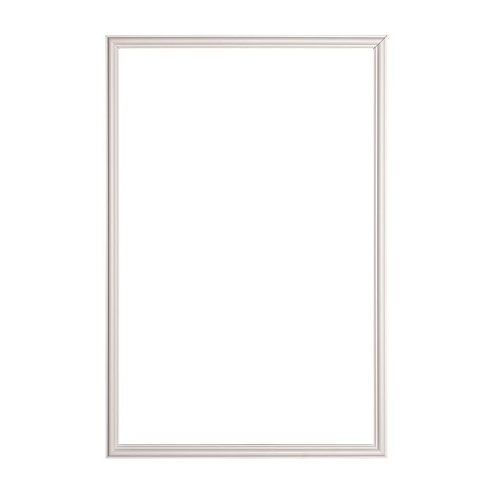 Trim Fast | White High Impact Polymer | Panel Frame with Adhesive Back | Outside Dimensions 23-5/8in x 35-7/16in x 9/16in