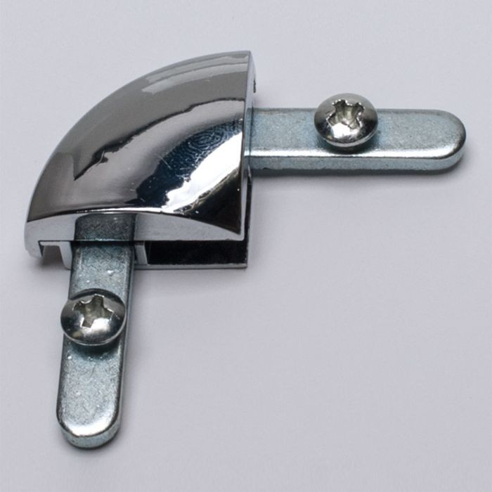 Polished Chrome Plated Plastic Corner With Set Screws
