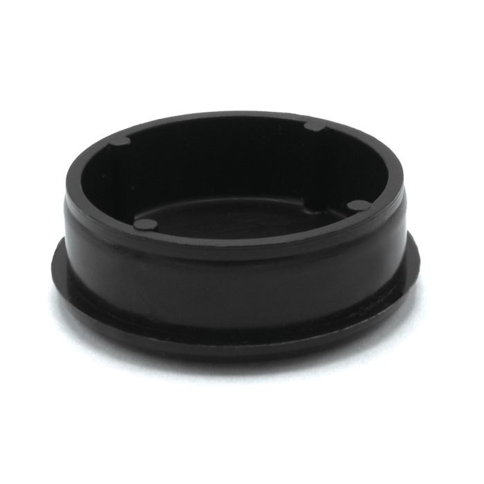 1-1/2in Dia | 16 Gauge Black Matte Finish ABS | Plastic Round Inside End Cap for Tubing