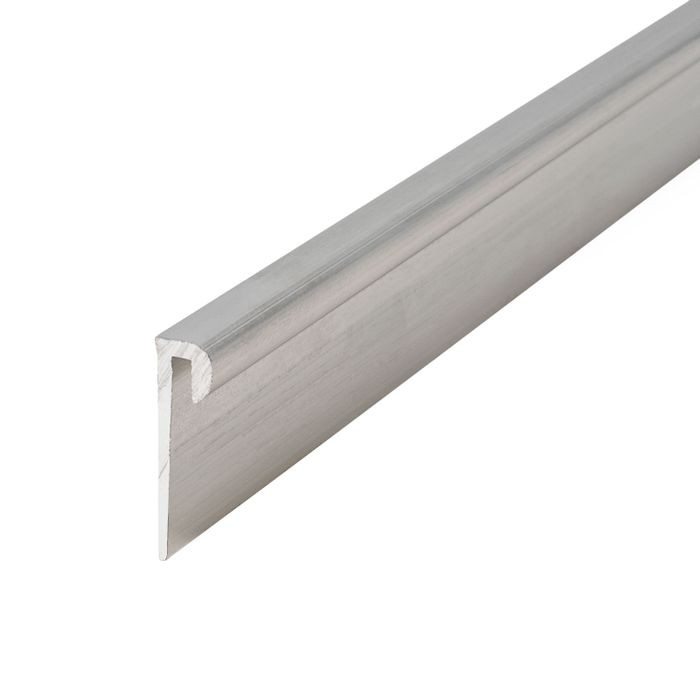 "1/16"" Mill Finish Aluminum Cap Moulding 12' Length"