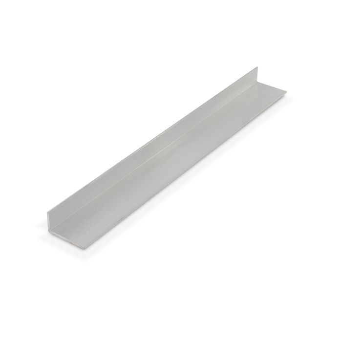 1/2in x 1in x 1/16in Thick | Mill Finish Aluminum Uneven Leg | 90° Angle Moulding | 12ft Length