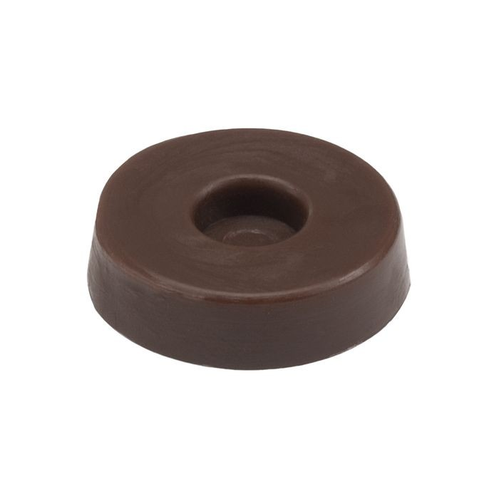 "1/2"" Diameter Dark Brown HDPE Staple-On Glide"