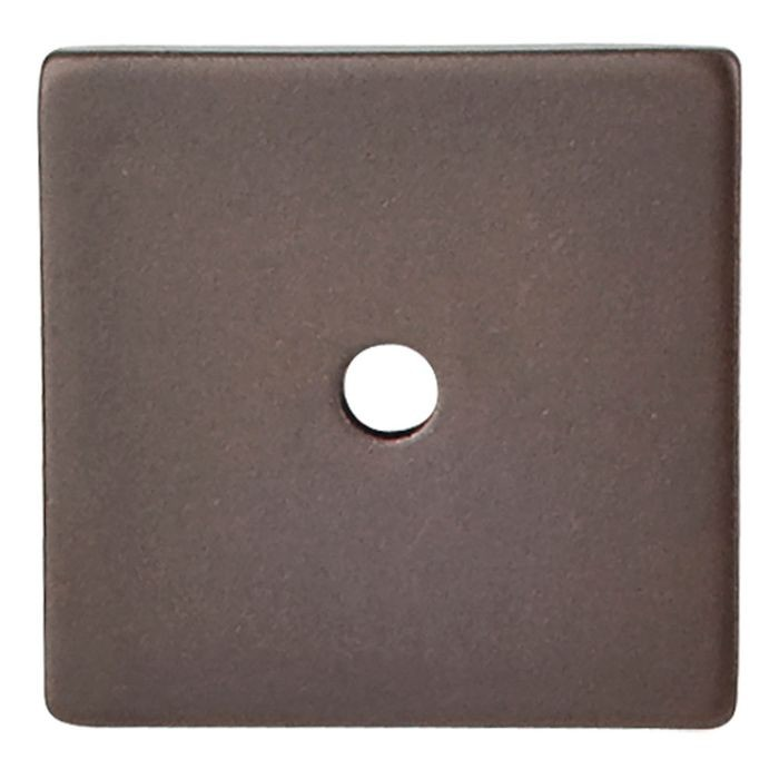 "Square Backplate 1 1/4"" Dia. Oil Rubbed Bronze"