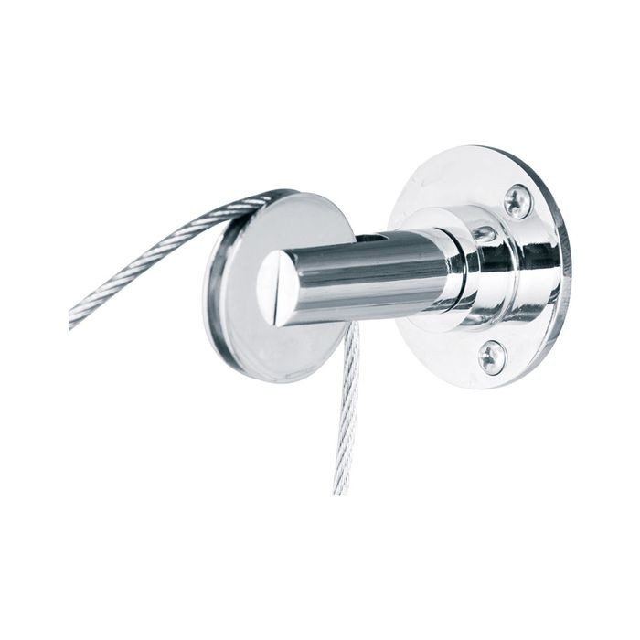 Wall To Wall / Wall To Floor Top Fixing Satin Chrome