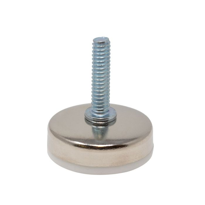 1/4-20 x 1in Long | Nickel Plated Shell with White Base | Titan Leveler