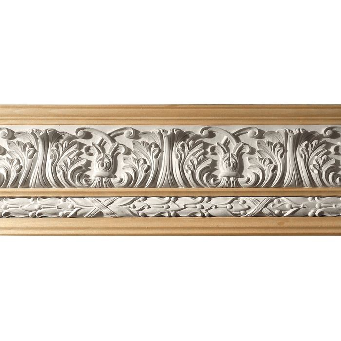 10in H x 1-1/2in Proj | Unfinished Polymer Resin | 480-C Series with Bottom Style 2 | Frieze Moulding | 10ft Long