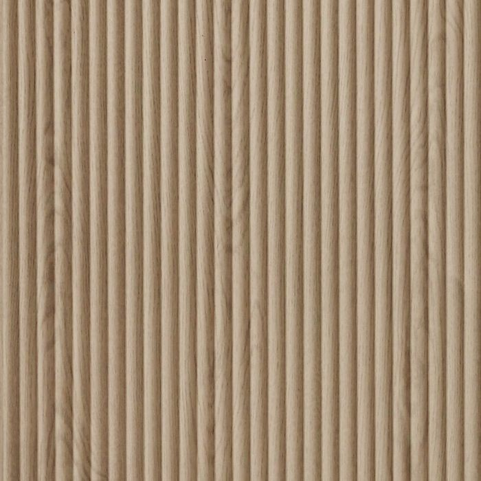 10' Wide x 4' Long Rib2 Pattern Washed Oak Finish Thermoplastic Flexlam Wall Panel