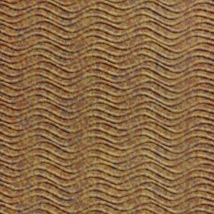 FlexLam 3D Wall Panel | 4ft W x 10ft H | Wavation Pattern | Cracked Copper Finish