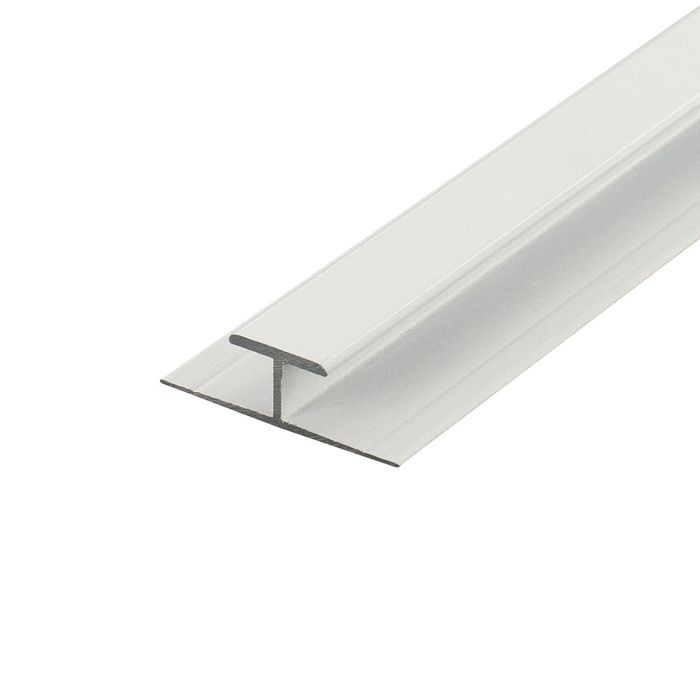 1/4in to 9/32in White | Aluminum Divider Moulding | 12ft Length